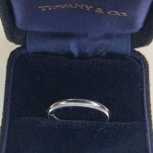 Milgrain Wedding Band Ring 2mm Platinum Size 4.5